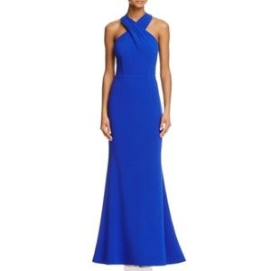 New! J S Collection Royal Blue Maxi Gown